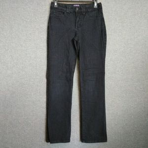 NYDJ Straight Jeans Stretch Black